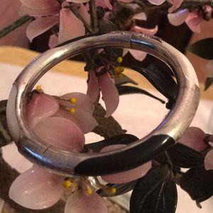 Vintage mop onyx 925 bracelet